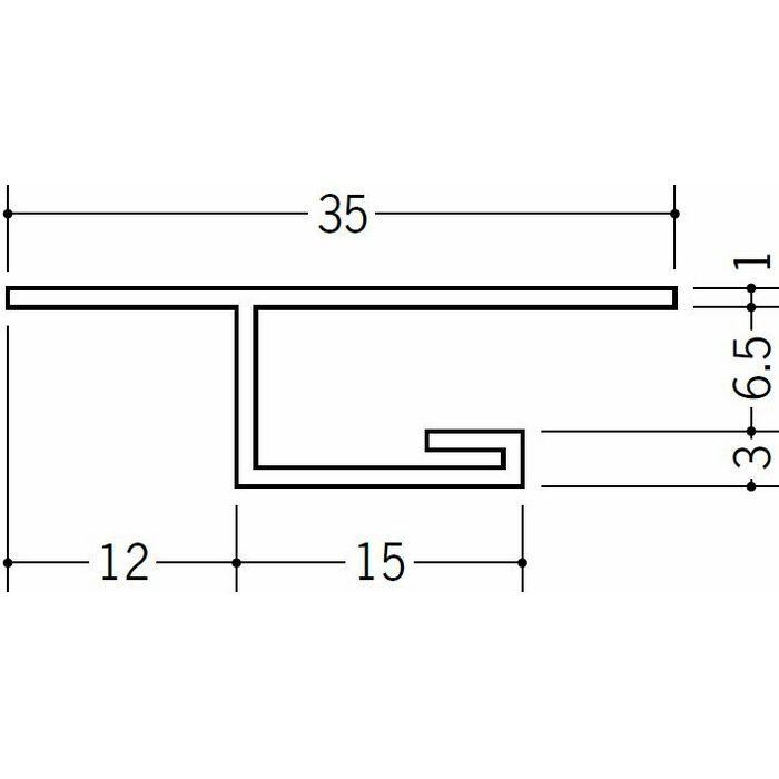 目透かし型見切縁 ビニール 見切 LV-6 ホワイト 2m  34127