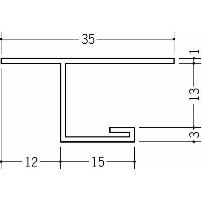 目透かし型見切縁 ビニール 見切 LV-12 ホワイト 2m  34129