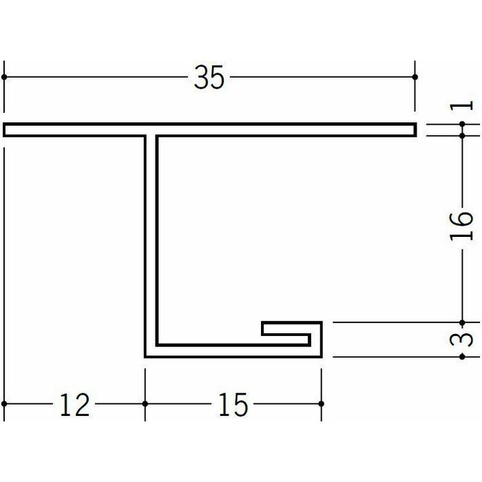 目透かし型見切縁 ビニール 見切 LV-15 ホワイト 2m  34145