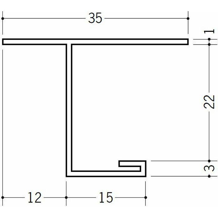 目透かし型見切縁 ビニール 見切 LV-21 ホワイト 2m  34146