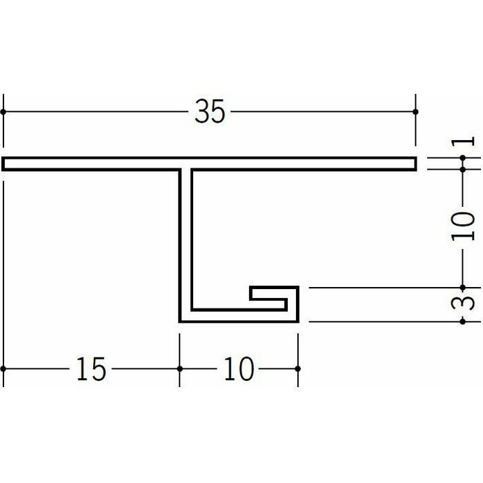 目透かし型見切縁 ビニール 見切 GTM-10 ホワイト 2m  33604