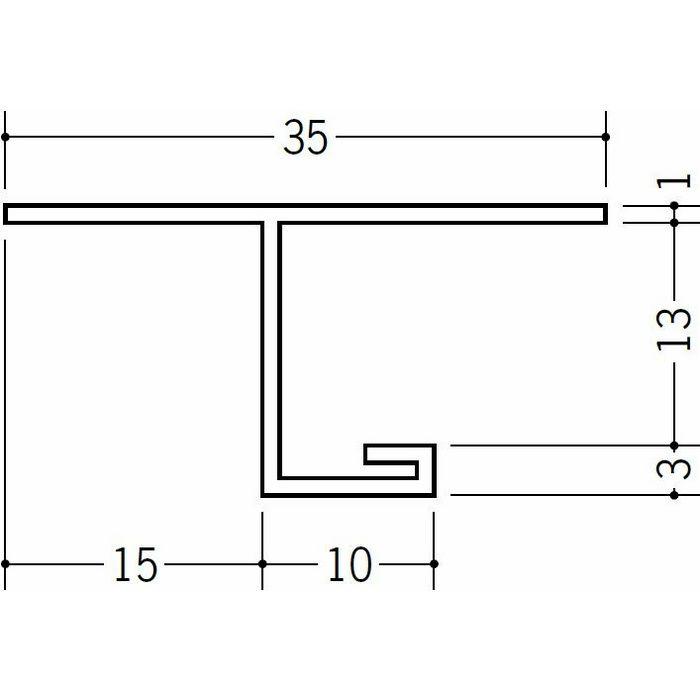 目透かし型見切縁 ビニール 見切 GTM-13 ホワイト 2m  33605