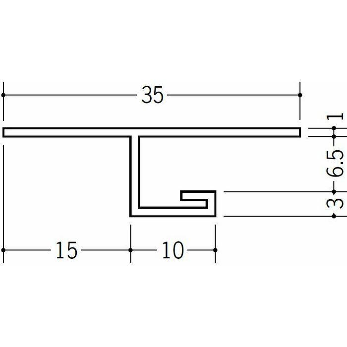 目透かし型見切縁 ビニール 見切 SV-615 ホワイト 2m  34121