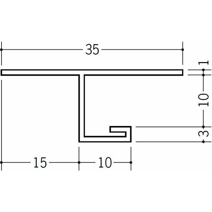 目透かし型見切縁 ビニール 見切 SV-915 ホワイト 2m  34123