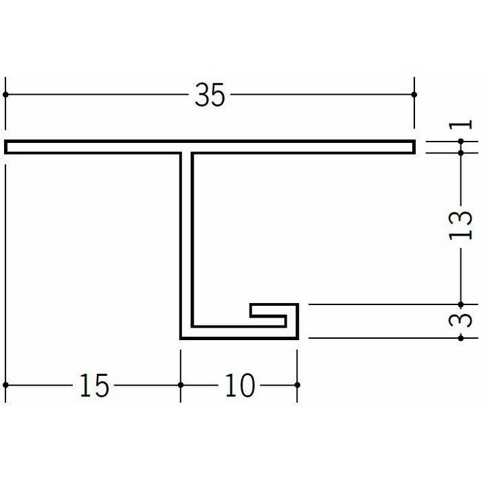 目透かし型見切縁 ビニール 見切 SV-1215 ホワイト 2m  34124