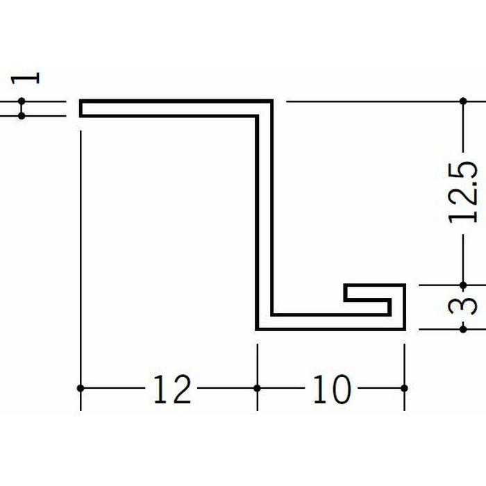 目透かし型見切縁 ビニール 見切 13ZE ホワイト 1.82m  37013