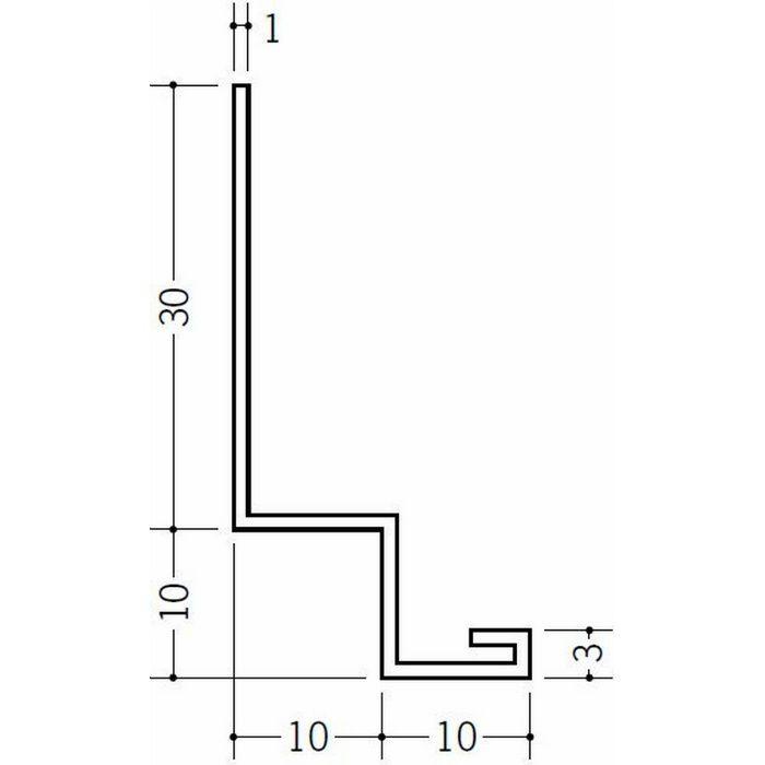 壁付け型見切縁 ビニール 見切 PFL-100 ホワイト 2m  31085