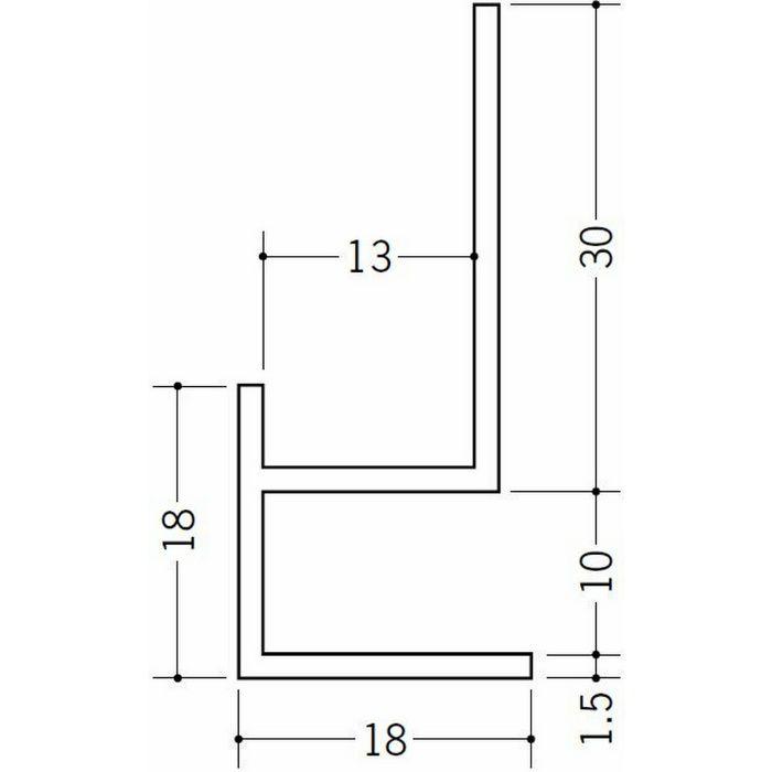 下がり壁用見切縁 ビニール 見切 CMX-0912 ホワイト 2m  31078