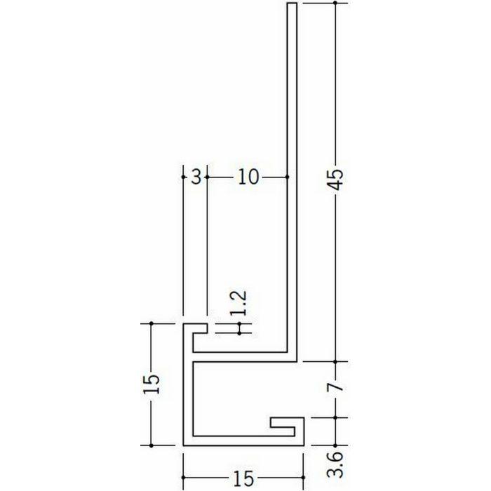 下がり壁用見切縁 ビニール 見切 CX-609 ホワイト 2m  31076