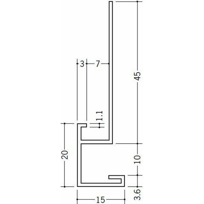 下がり壁用見切縁 ビニール 見切 CX906-A ホワイト 2m  31079
