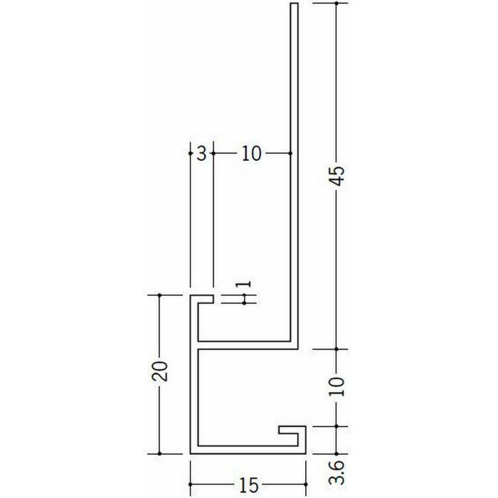 下がり壁用見切縁 ビニール 見切 CX-909 ホワイト 2m  31059