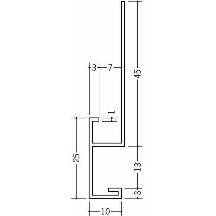 下がり壁用見切縁 ビニール 見切 CTX-1307 ホワイト 2m  33516