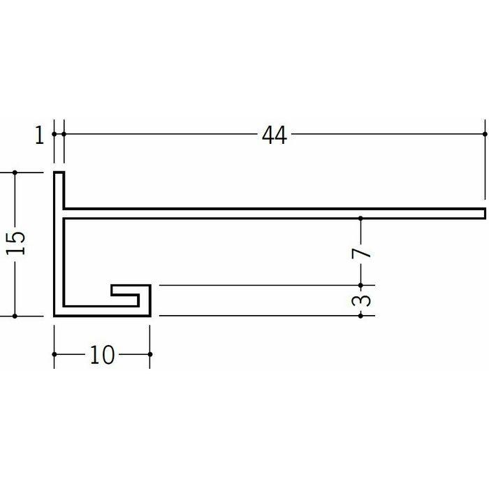 下がり壁用見切縁 ビニール 見切 CXK-7F ホワイト 2m  31093