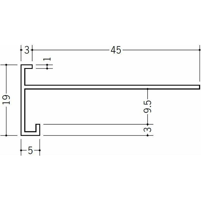 下がり壁用見切縁 ビニール 見切 FCX-9.5M(岩綿板用) ホワイト 2m  33527