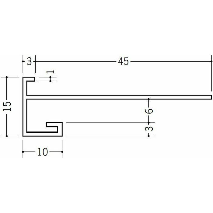 下がり壁用見切縁 ビニール 見切 CX-50F ホワイト 2m  33167