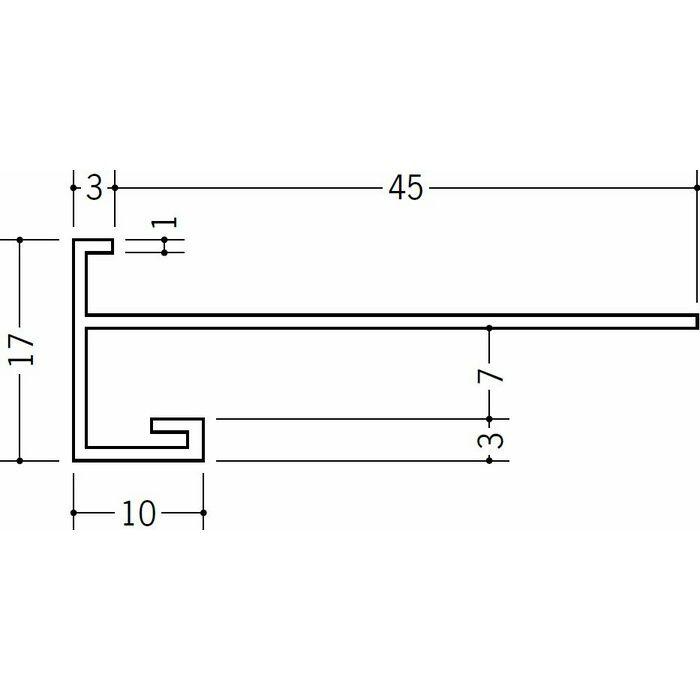 下がり壁用見切縁 ビニール 見切 CX-60F ホワイト 2m  31063