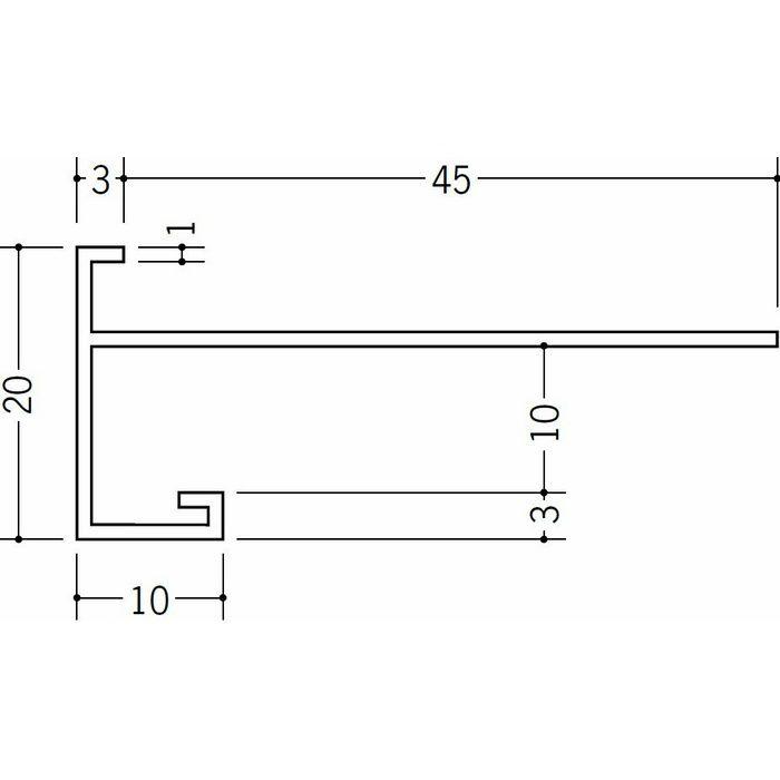 下がり壁用見切縁 ビニール 見切 CX-90F ホワイト 2m  31061
