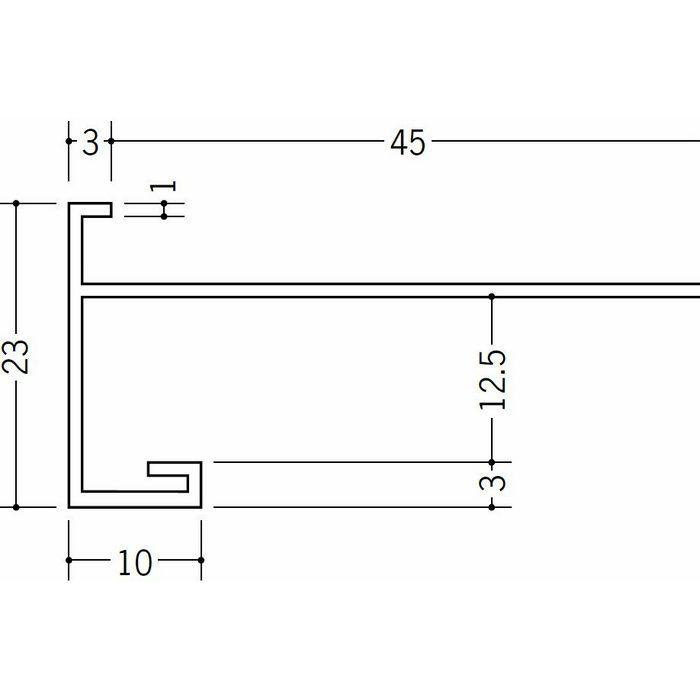 下がり壁用見切縁 ビニール 見切 CX-125F(岩綿板用) ホワイト 2m  33169