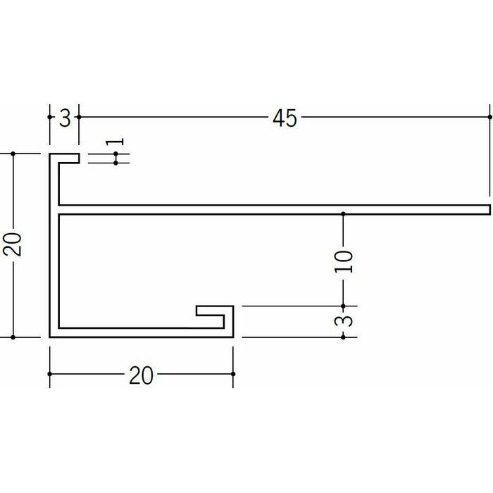 下がり壁用見切縁 ビニール 見切 CXS-9.5F ホワイト 2m  33159