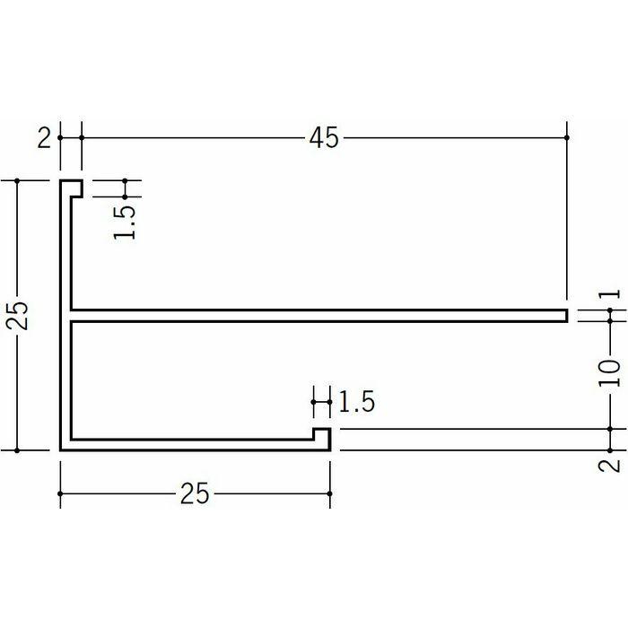 下がり壁用見切縁 ビニール 見切 MCX-925F ホワイト 2m  33508