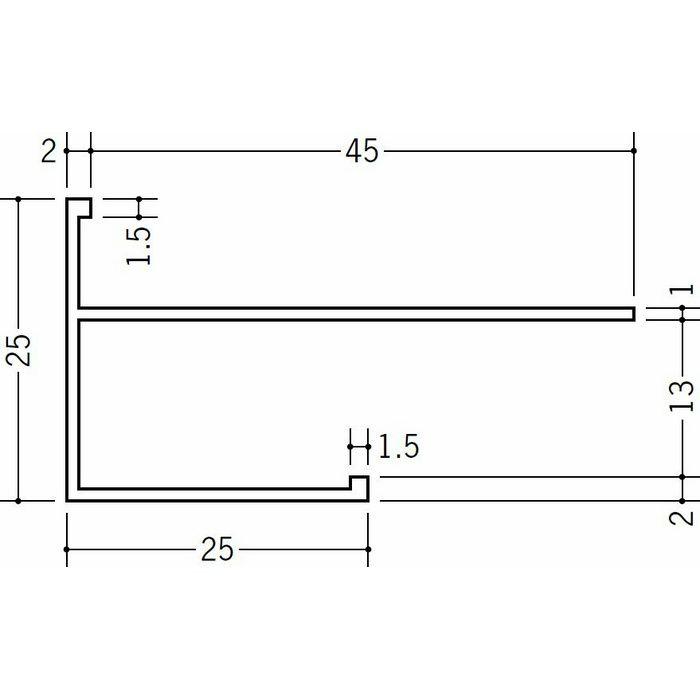 下がり壁用見切縁 ビニール 見切 MCX-1225F ホワイト 2m  33509