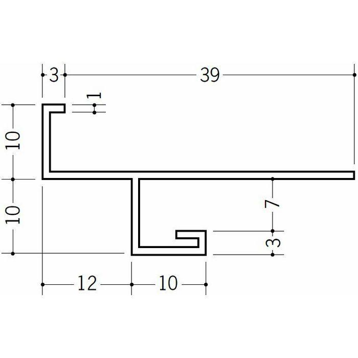 下がり壁用見切縁 ビニール 見切 VN-7 ホワイト 2m  31003