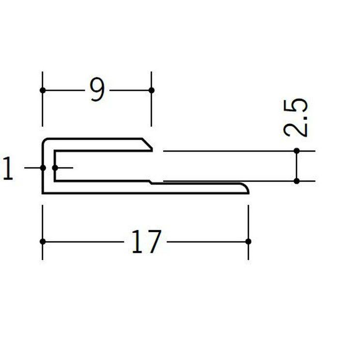 コ型ジョイナー ビニール GC-2.5 ホワイト 1.82m  35041-1