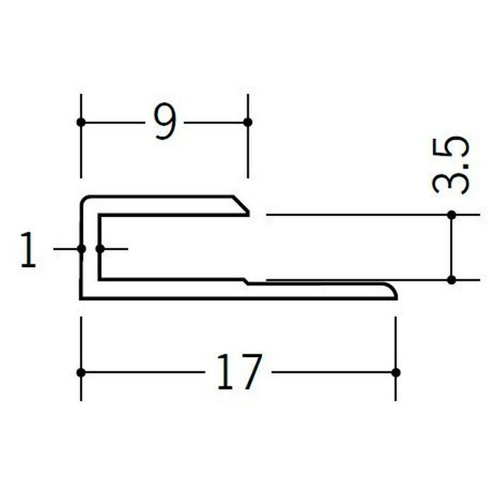 コ型ジョイナー ビニール GC-3.5 ホワイト 1.82m  35042-1