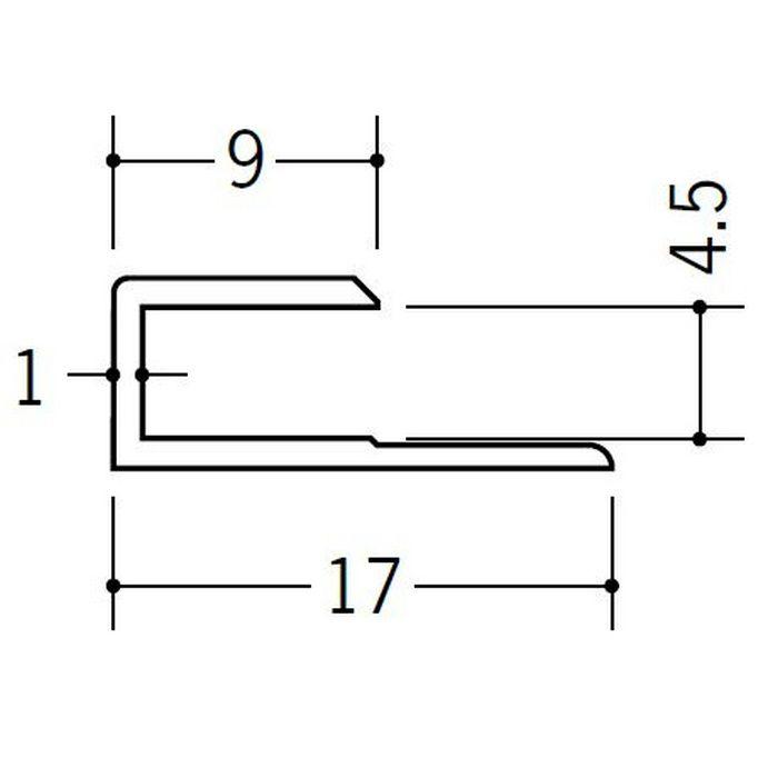 コ型ジョイナー ビニール GC-4.5 ホワイト 2.42m  35043-2