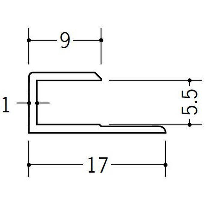 コ型ジョイナー ビニール GC-5.5 ホワイト 1.82m  35044-1