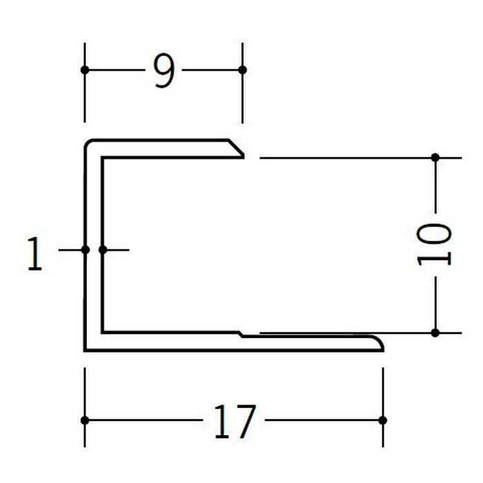 コ型ジョイナー ビニール GC-9.5 ホワイト 1.82m  35046-1