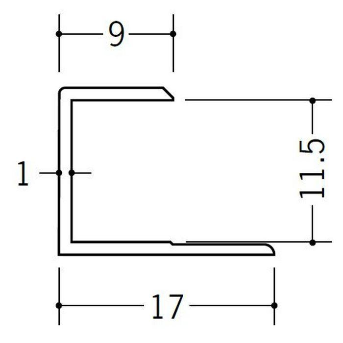コ型ジョイナー ビニール GC-11.5 ホワイト 2.42m  35052-2