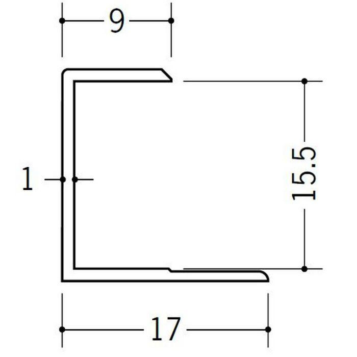 コ型ジョイナー ビニール GC-15.5 ホワイト 1.82m  35048-1