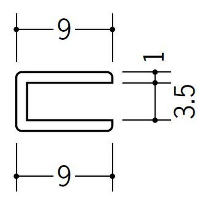 コ型ジョイナー ビニール 3.5CCP ホワイト 2.73m  33185