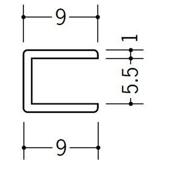 コ型ジョイナー ビニール 5.5CCP ホワイト 2.73m  33187