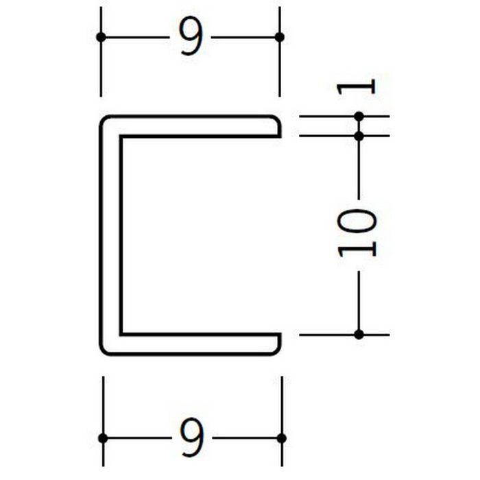 コ型ジョイナー ビニール 10CCP ホワイト 2.73m  33190