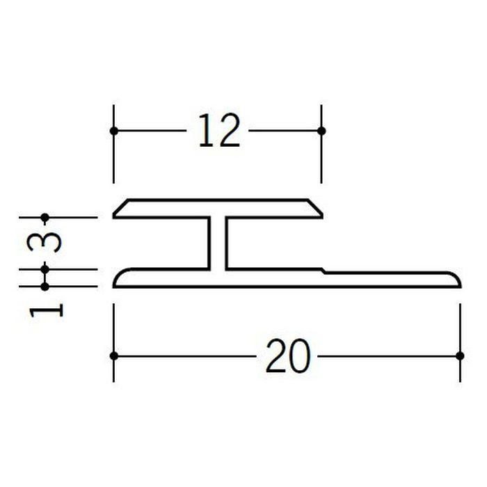 H型ジョイナー ビニール HG-3 ホワイト 1.82m  35030-1