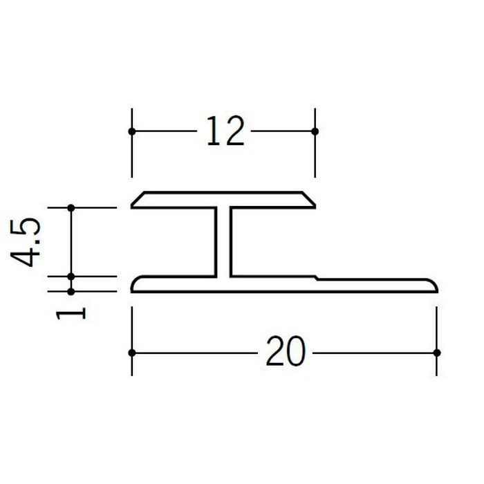 H型ジョイナー ビニール HG-4.5 ホワイト 1.82m  35033-1