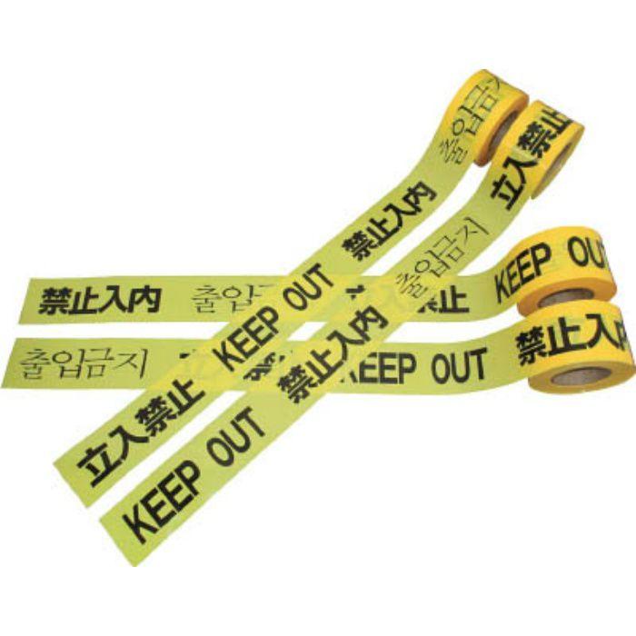 DM5 危険標示テープ 4ヶ国語標示 60mmX50m
