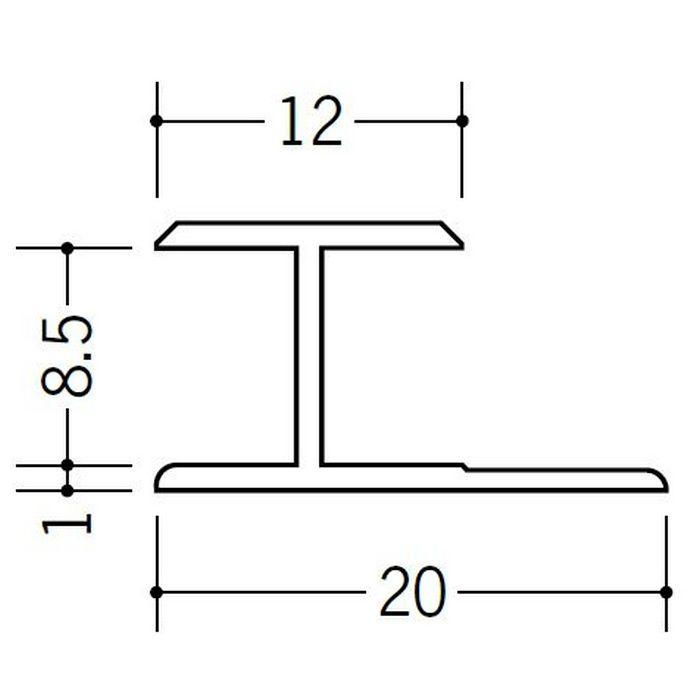 H型ジョイナー ビニール HG-8.5 ホワイト 1.82m  35040-1