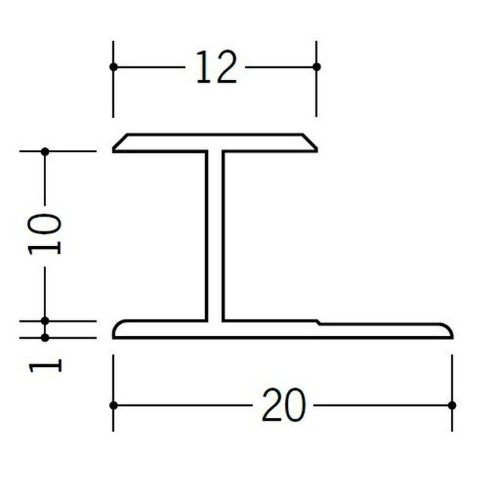 H型ジョイナー ビニール HG-9.5 ホワイト 1.82m  35036-1