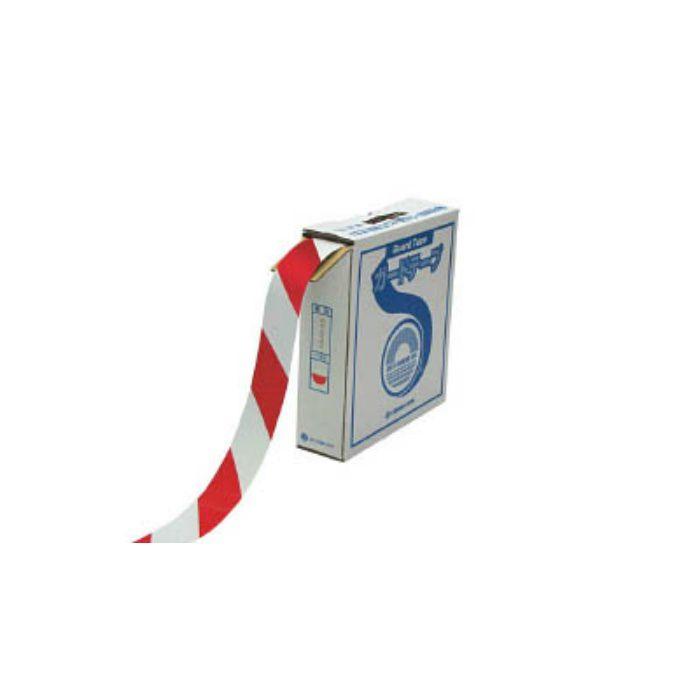 ラインテープ(ガードテープ) 白/赤 50mm幅×100m 屋内用