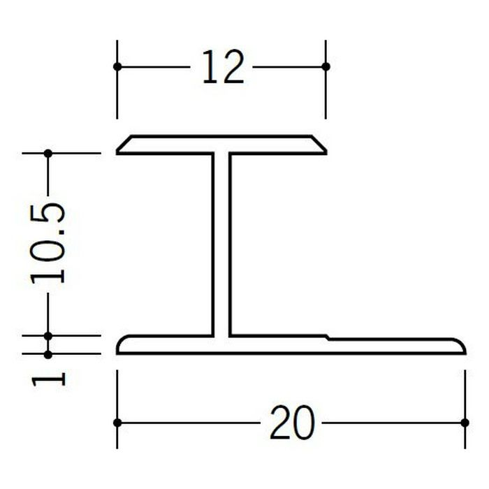 H型ジョイナー ビニール HG-10.5 ホワイト 2.42m  35101-2