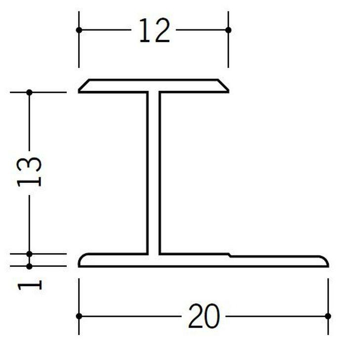 H型ジョイナー ビニール HG-12.5 ホワイト 1.82m  35037-1
