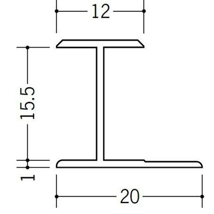 H型ジョイナー ビニール HG-15.5 ホワイト 2.42m  35038-2