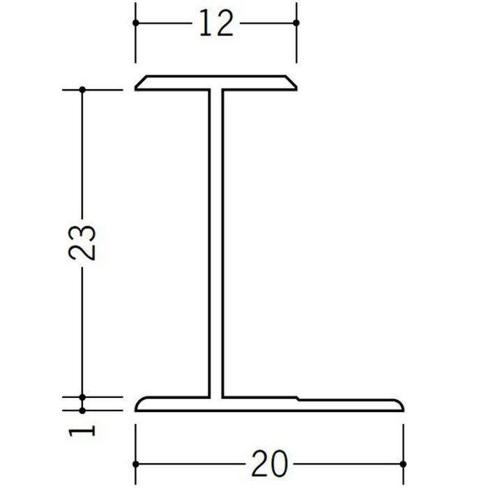 H型ジョイナー ビニール HG-23 ホワイト 2.42m  35103-2