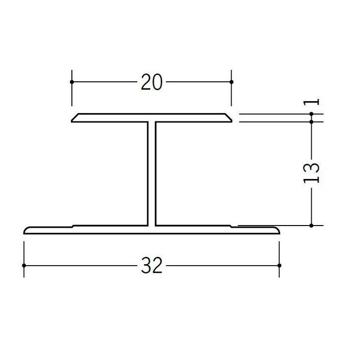H型ジョイナー ビニール HTX-13 ホワイト 2.73m  35144