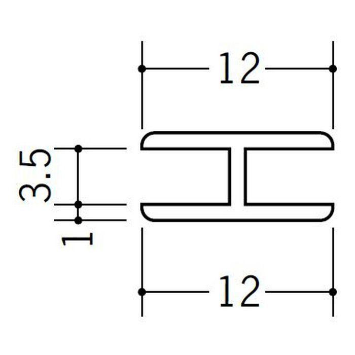 H型ジョイナー ビニール 3.5HHP ホワイト 2.73m  36170