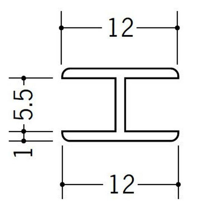 H型ジョイナー ビニール 5.5HHP ホワイト 2.73m  36172