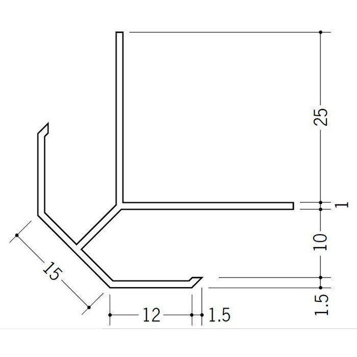 出隅ジョイナー ビニール DPS-9.5 ホワイト 2.73m  39003
